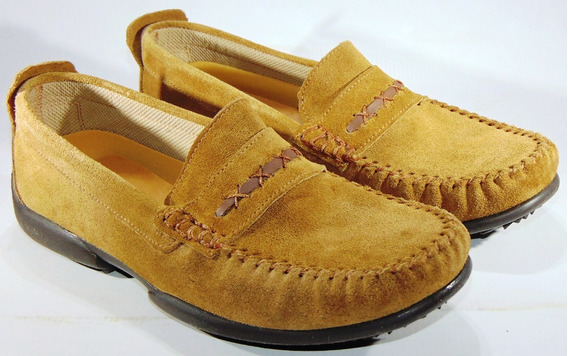 Zapatos Mocasines Hopper Gamuza Legitima Cosidos Art 862