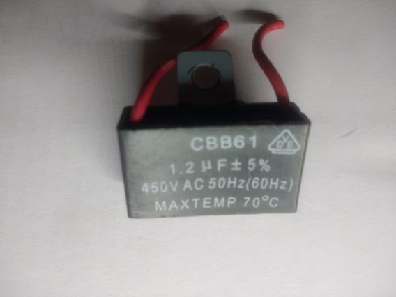 Capacitor 1,2uf X 450vac +- 5% Ventilador Com 2 Fios