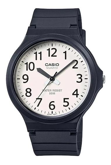 Relógio Casio Masculino Preto Analógico Mw-240 Original