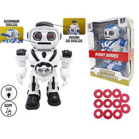 Robo Educativo Infantil Space Warrior Lanca Discos Musical