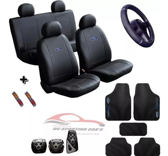 Kit Proteção Capas Em Couro + Tapete Pedaleira Ford Promoção