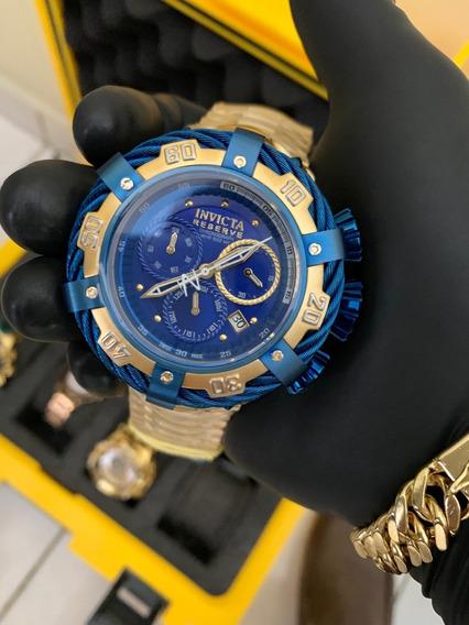 Relógio Masculino Banhada A Ouro 18k Thunderbolt Invicta Preto E Dourado