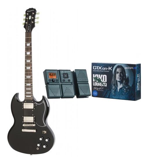 Guitarra Elétrica EpiPhone G-400 Pro Black + Pedaleira Kiko