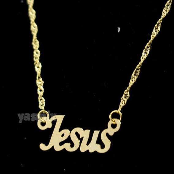 Colar Jesus Religião Jesus Cristo Folheado A Ouro
