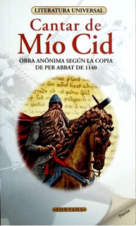 Libro. Cantar Del Mio Cid. Clásicos Fontana.