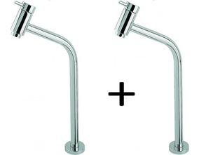 Kit 2 Torneiras P/lavatório Link Soft 45° 1/4 Volt Bica Alta