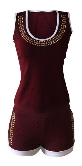Conjunto Feminino Short Saia + Cropped Blusa Regata Nó