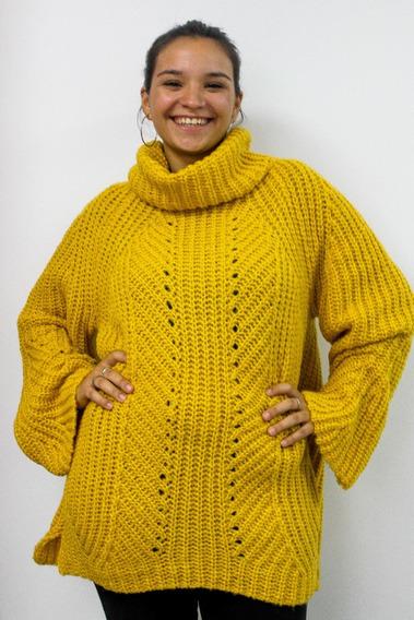 Sweater Poleron Invierno Lana Premium Abrigo Amplio Nuevo