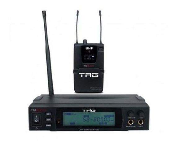 Fone Monitor Referência In Ear Uhf Tg9000 Tagima Sem Fio