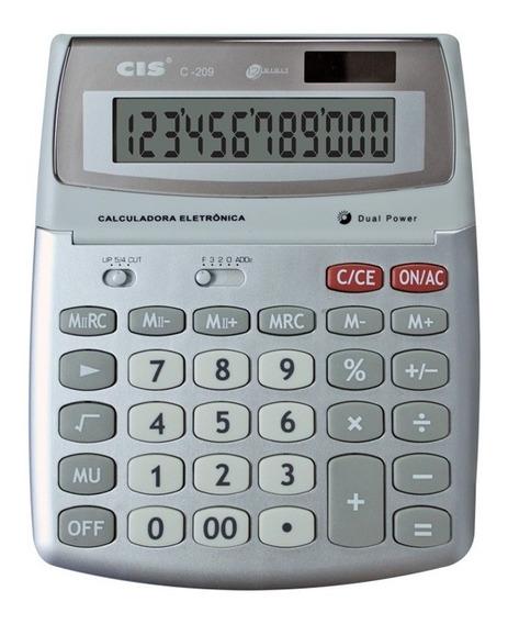 Calculadora De Mesa Cis C-209 12 Digitos Grande Sertic