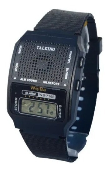 Relógio Pulso Fala Hora Deficiente Visual Voz Som