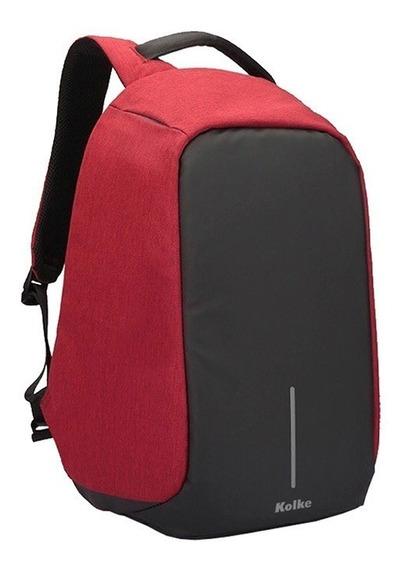 Mochila Antirrobo Porta Notebook Usb Impermeable Seguridad