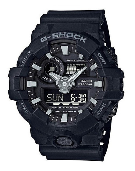 Relógio Casio G-shock Modelo Ga-700-1bdr - Original Com Not