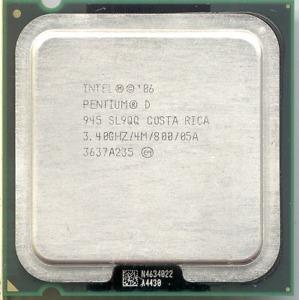 Procesador Intel Pentium D 945 3..40 Ghz Sl9qq Socket Lga775