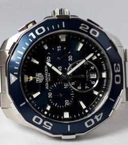 Tag Heuer Aquaracer Chrono 43mm Ano2018 Azul Completo 12xsj