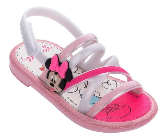 Sandália Minnie Hearts Baby Tam 17 Ao 22