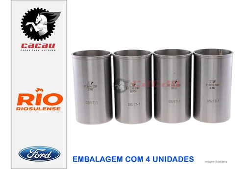 Camisa De Cilindro Ford Ka Fiesta 1.0 8v Zetec Rocam
