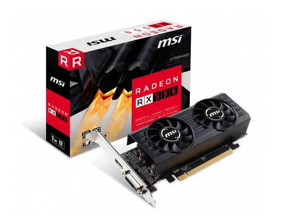 Placa De Video Vga Msi Radeon Rx 550 2gt Lp Oc Gtia Pce