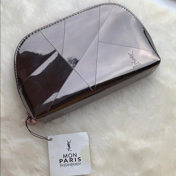 Porta Cosméticos Yves Saint Lurent Metal Cartera Maquillaje