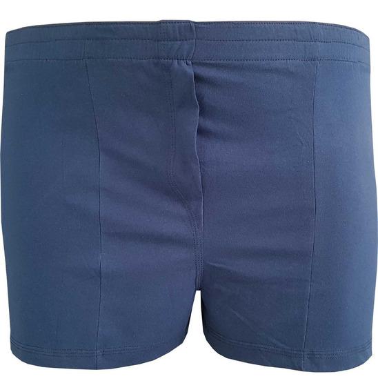 Shorts Masculino Para Dormir Plus Size 100% Algodão Azul