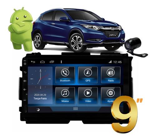 Kit Multimidia Honda Hrv Aikon Atom Cam Front Wifi Tv Full
