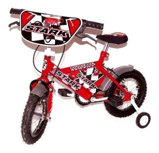 Bicicletas Nenes Nena Infantil Stark Con Rueditas Rodado 12