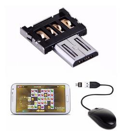 Frete Grátis Otg Adaptador Teclado Mouse Pendrive No Celular