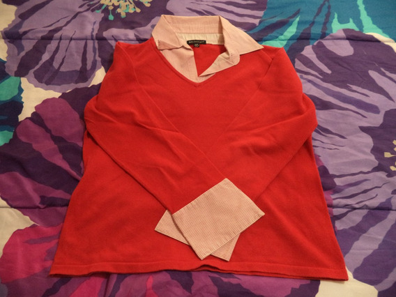 Precioso Sueter Tejido By Design Dama Talla L Rojo