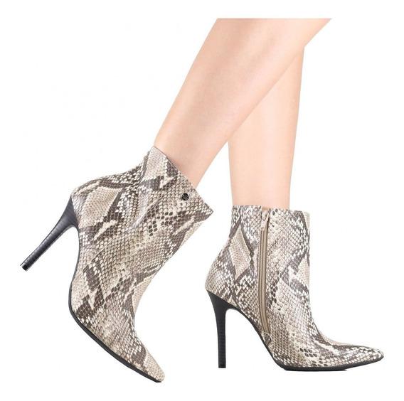 Bota Feminina Via Marte Ankle Boot 19-4355