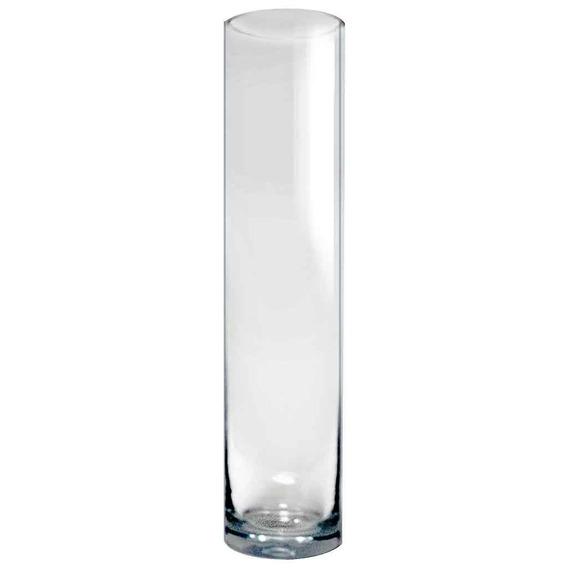 Florero Cilindro Vidrio Cristal Optico Prinz