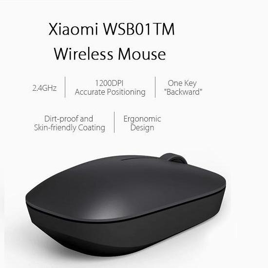 Mouse Xiaomi Optico Wireless 2.4g 1200dpi Preto