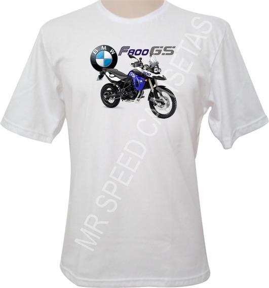 Camiseta Motocicletas Bmw F800 Gs Azul\roxa