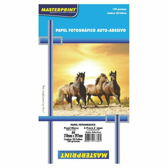Papel Adesivo A4 Masterprint 20 Folhas