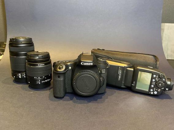 Câmera Dslr Canon 70d Corpo + Kit Completo 12x Sem Juros!