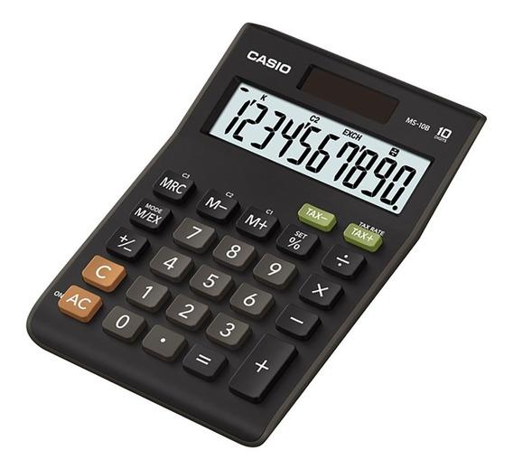 Calculadora Escritorio Casio Ms-10b Garantia Oficial 2 Años