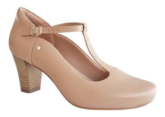 Sapato Boneca Duani Nude Bege Dança De Salão Salto 6,5cm