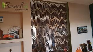 Cortina Persiana De Bambú Diseño Zig Zag