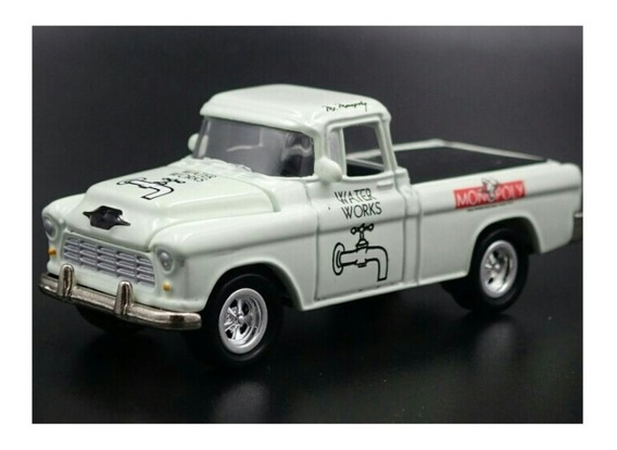 1955 Chevy Cameo Pickup Monopoly Johnny Lightning 1/64