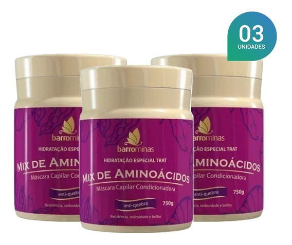Kit Barrominas Mix Aminoacidos Edicao Especial 750g 03un