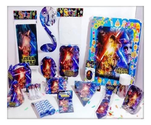 Kit Decoración Infantil Star Wars Fiesta 12 Invitados Niños