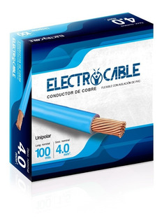 Cables Electricos Unipolar 4 Mm Electrocable X 100 Metros