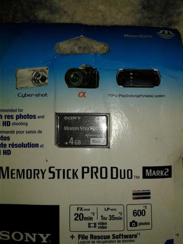 Imagen 1 de 2 de Memory Stick Pro Duo 4gb Sony Entrega Inmediata