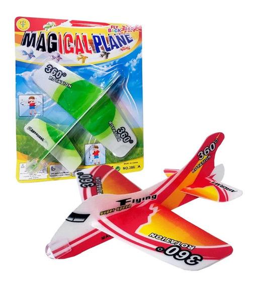 Avión Planeador Mágico Giro De 360 Grados Telgopor De 20 Cm
