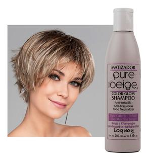 Shampoo Matizador Pure Beige Loquay 250 Ml | Envío Gratis