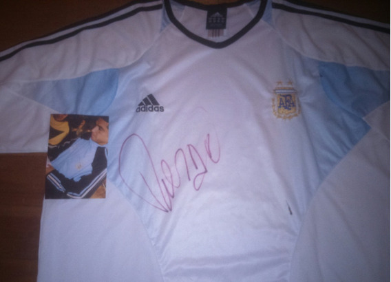 Autografiada! Camiseta Seleccion Argentina Training Roman