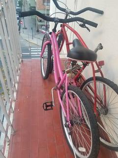 Bicicleta Halley Playera Rodado 24 Niña Rosa