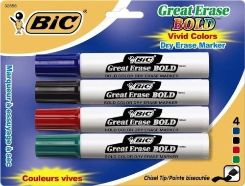 Imagen 1 de 1 de Bic Gran Erase Bold Marcador Borrado En Seco, Estilo Del Tan