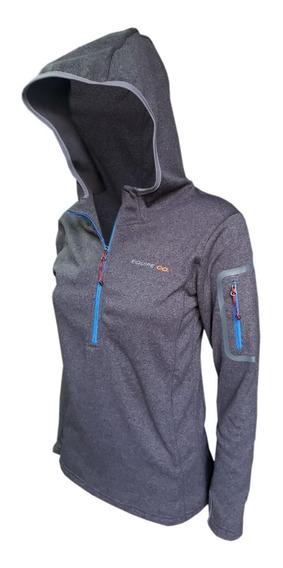 Buzo Mujer Capucha Micro Polar Invierno Campera Deportivo Oferta Cuotas Bernal Sky Frio Abrigo