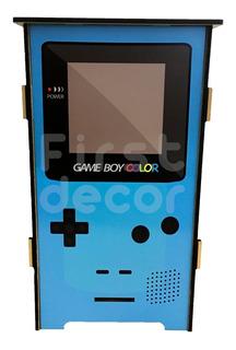 Banco Baú Caixa Organizadora Mdf Estampado Game Boy