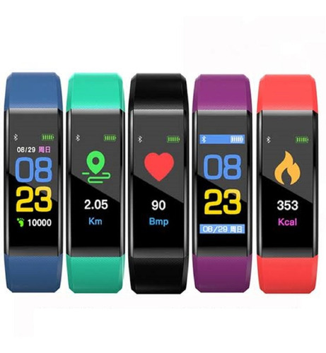 Imagen 1 de 4 de Brazalete Inteligente Smartband Pulsera Bluetooth Fitness